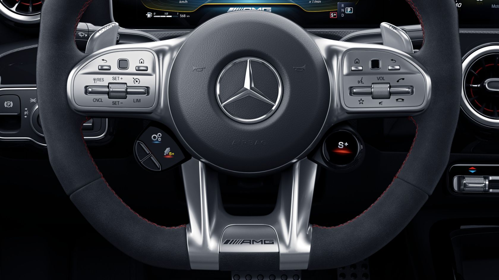 Переключатели AMG на рулевом колесе