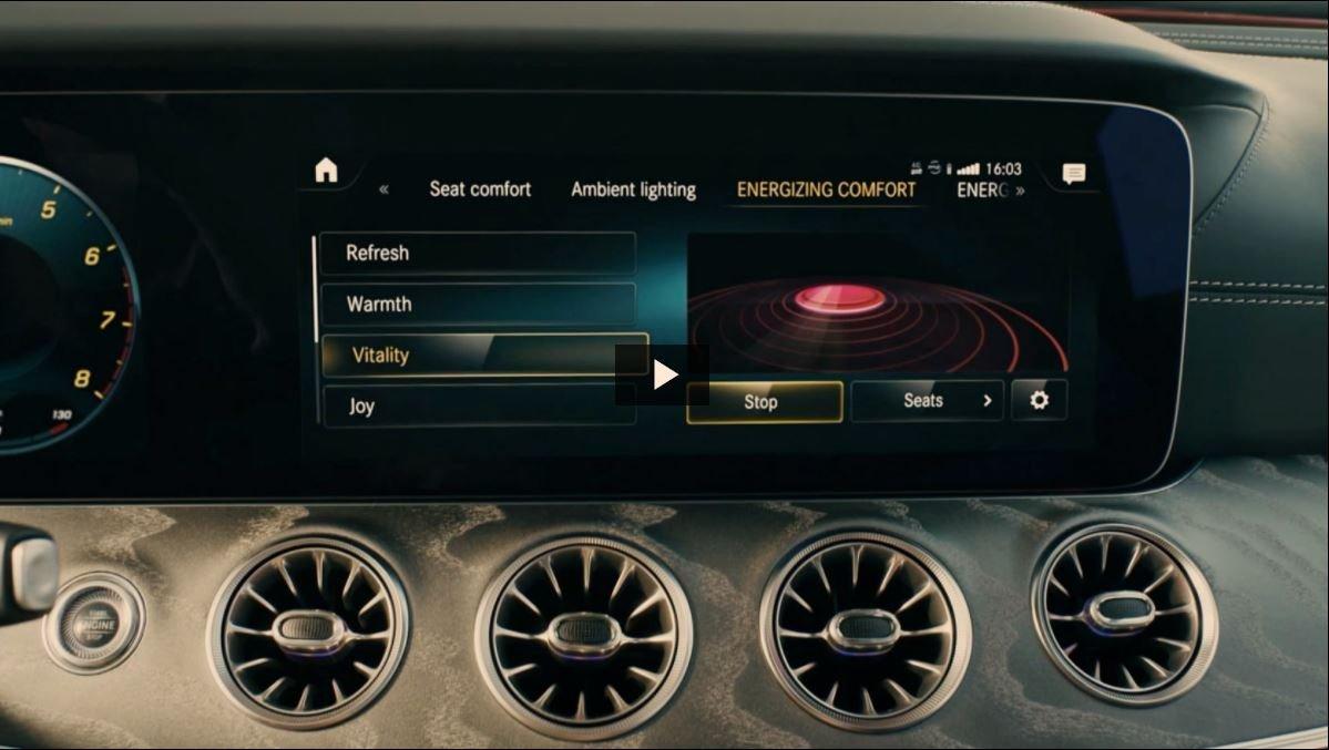 Освещение салона Mercedes E-class Coupe