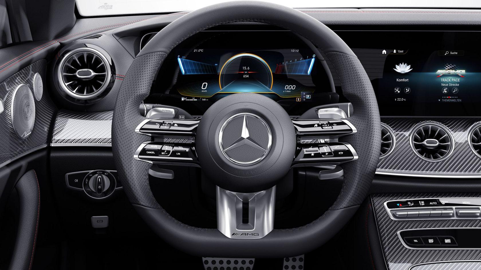 Шкіряне рульове колесо AMG Perfomance