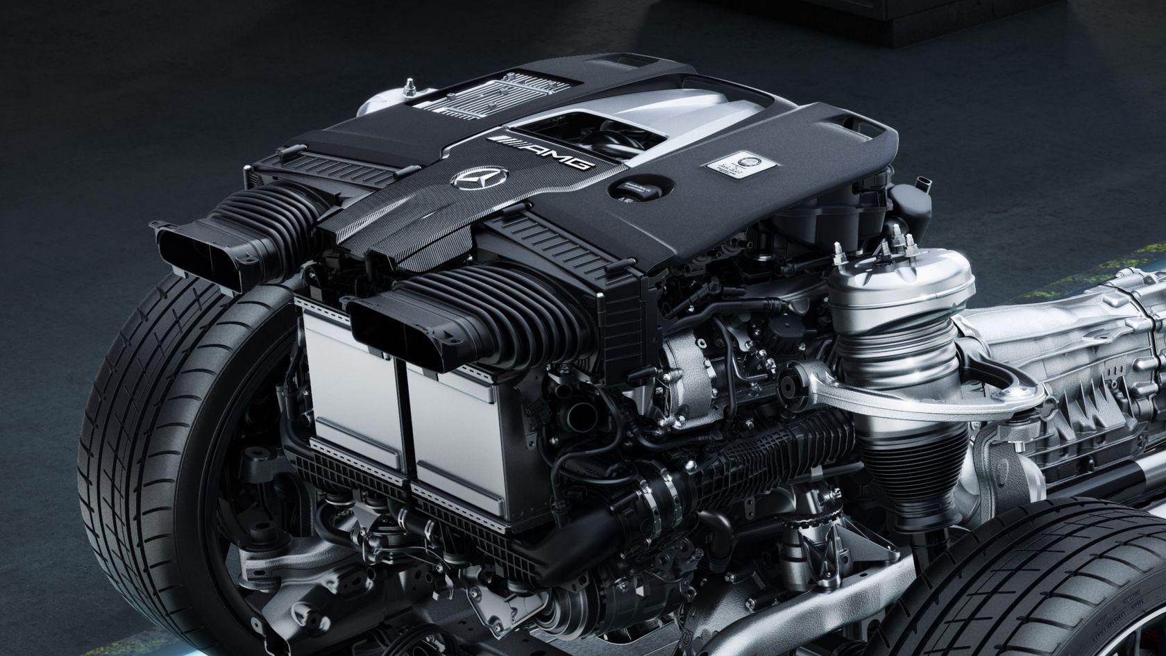 Защитный кожух двигателя AMG Carbon