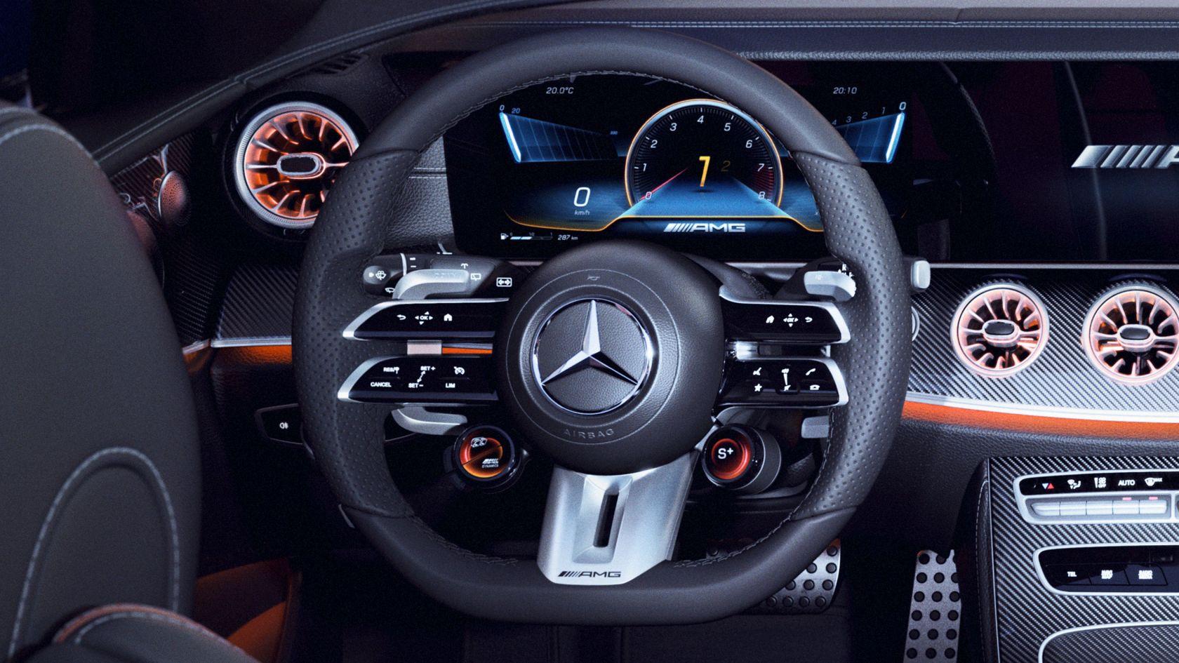 Кермове колесо AMG Performancе зі шкіряним покриттям